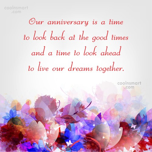 Our Anniversary Is A Time Anniversary Quotes