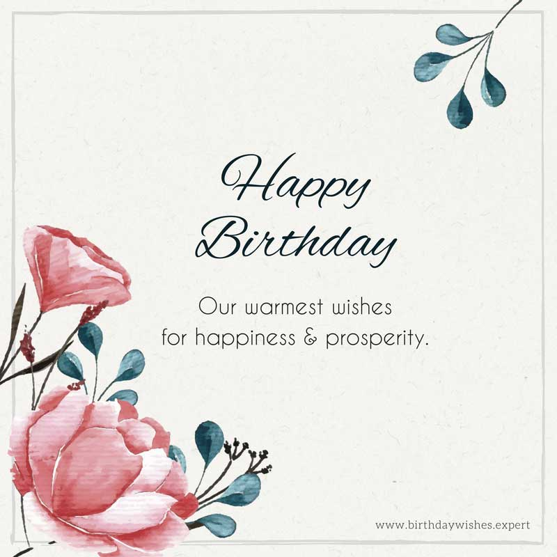 Our Warmest Wishes For Birthday Quotes
