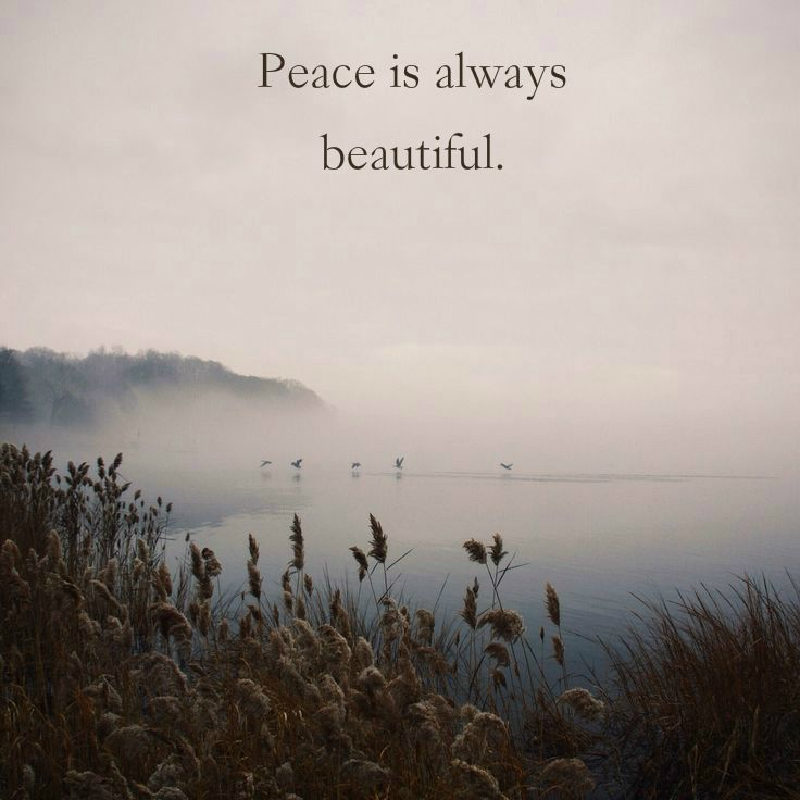 Peace Is Always Beautiful Nature and Earth Quotes