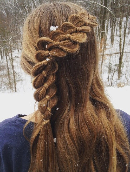 Pretty brown teenage Braid Hairstyle
