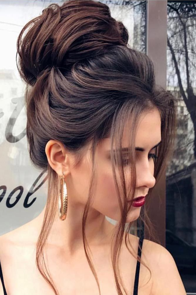 Pretty party wear Bun Hairstyle