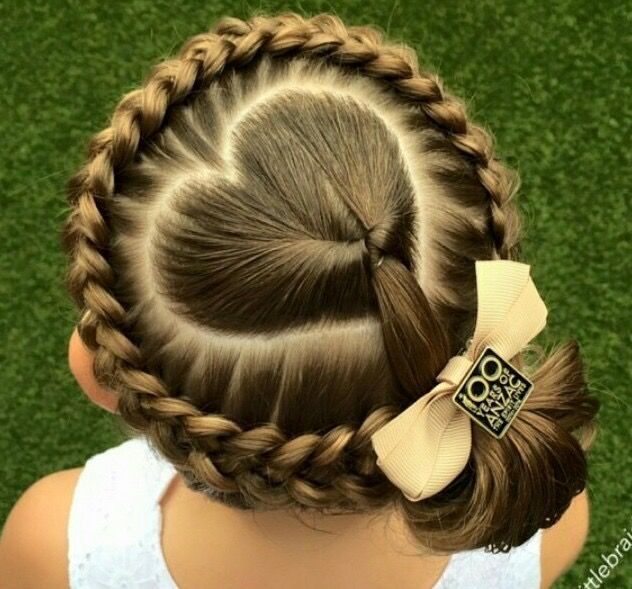 Romantic heart style Kids Hairstyle