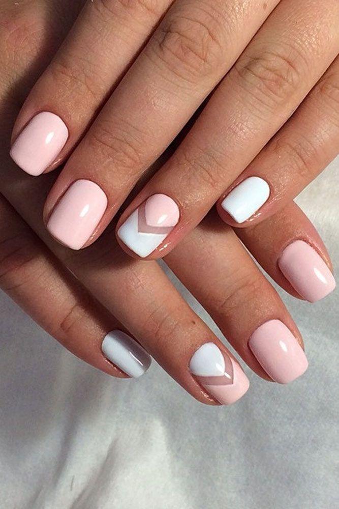 Simple one nail Chevron design nail art