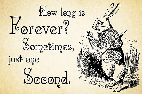 Sometimes Just One Second Alice In Wonderland Quotes