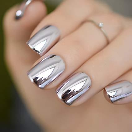 Stunning silver Classy nail art
