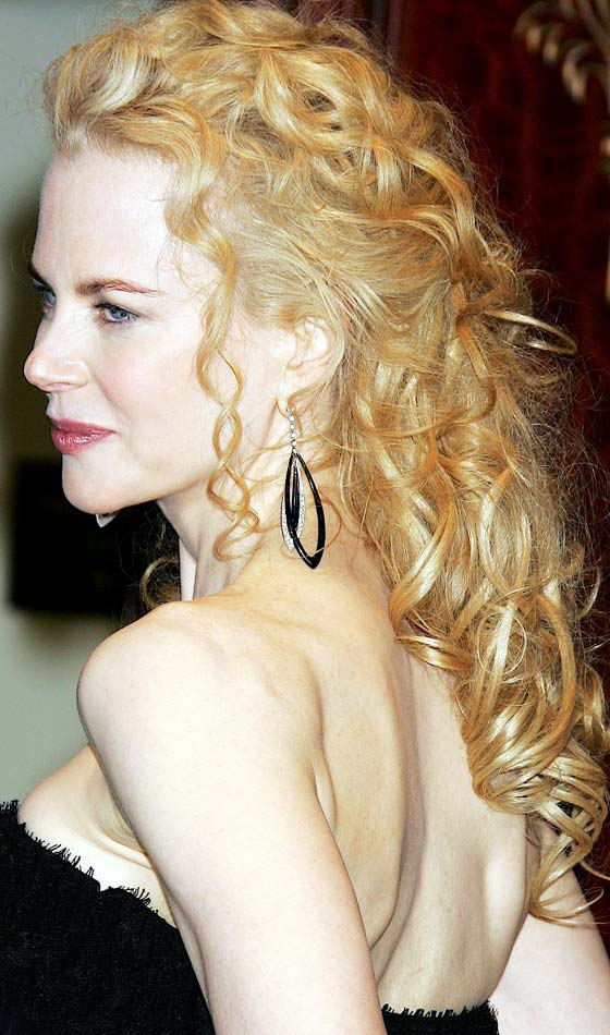 Stylish golden for party Curly Hairstyle