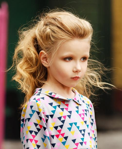 Stylish ponytail style Kids Hairstyle