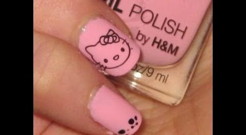 Superb nail Hello kitty nail art