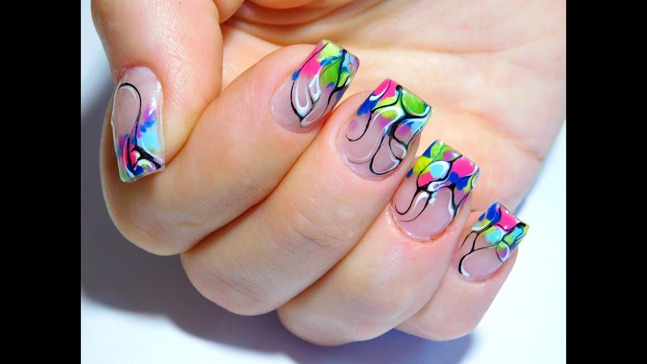 Superb printed design Classy nail art