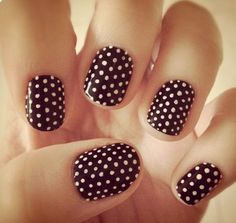 Superb red and white Polka dots nail art