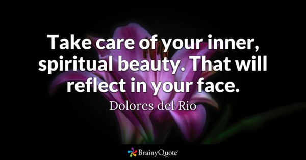 Take Care Of Your Inner Beauty Quotes