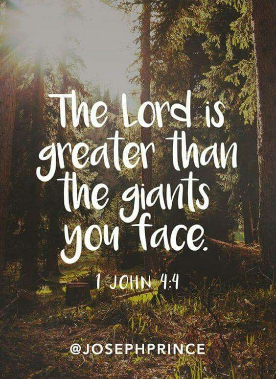 The Lord Is Greater Bible Quotes