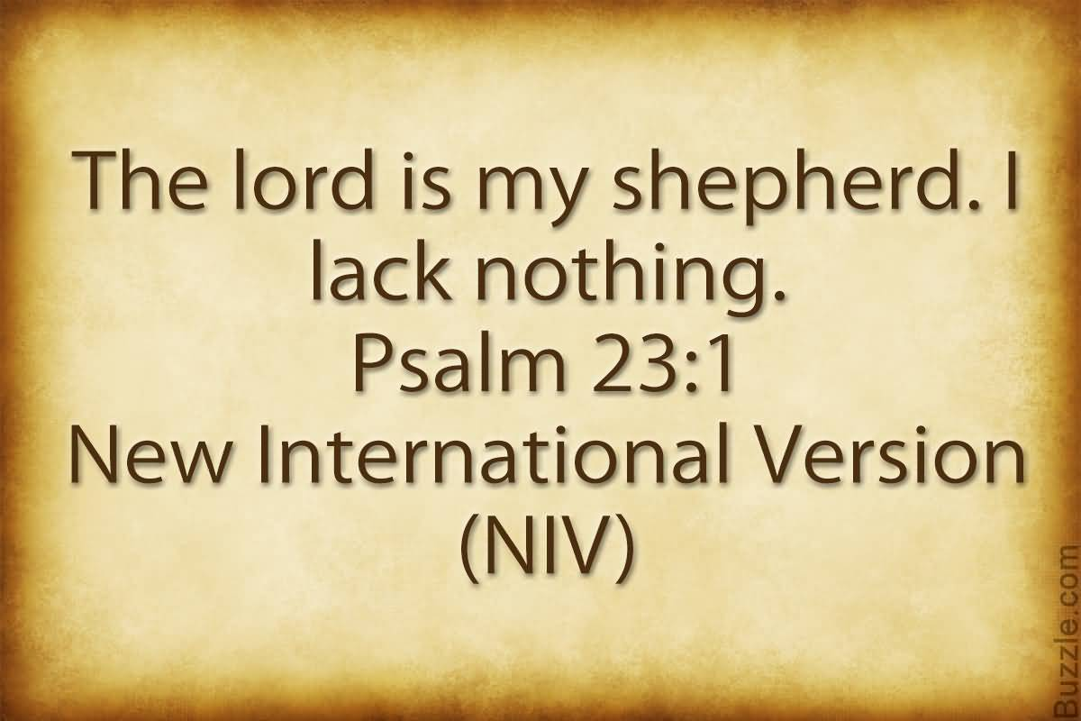 The Lord Is My Shepherd Bible Quotes