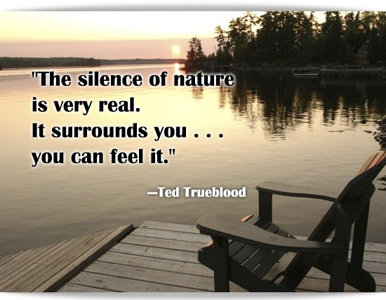 The silence of nature is very real Nature and Earth Quotes
