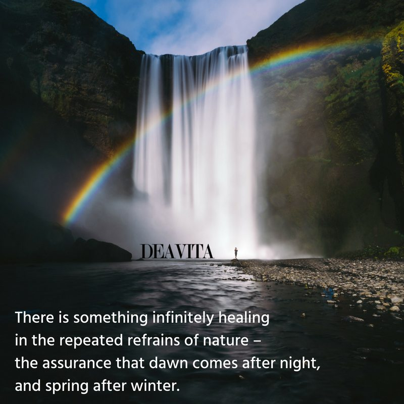There is something infinitely healing Nature and Earth Quotes