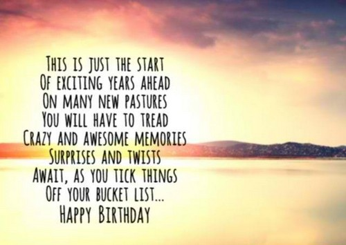 This Is Just The Start Birthday Quotes