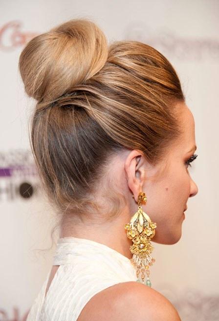 Top brown Bun Hairstyle