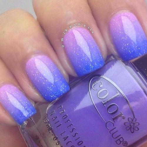 Trending blue combo design Ombre nail art