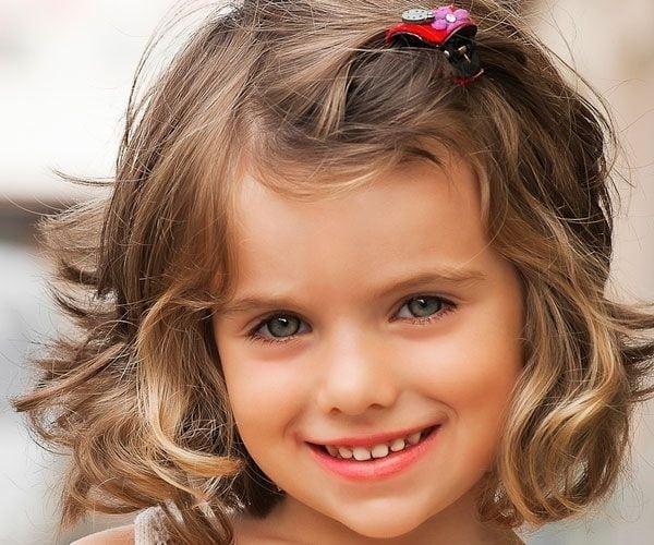 Trendy short hair pinned style Kids Hairstyle