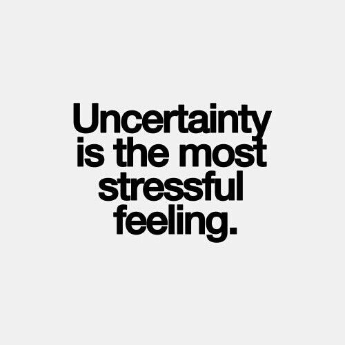 Uncertainty Is The Most Confused Quotes