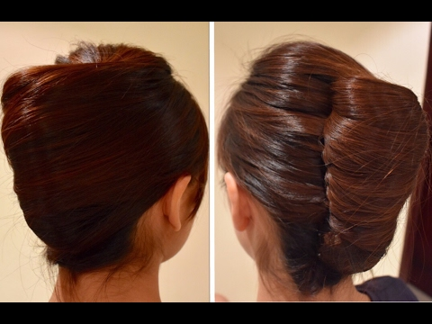 Unique red brown Bun Hairstyle