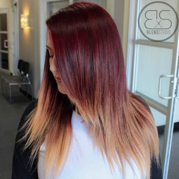 Unique style two tone for women Layer Hairstyle