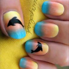 Unique wale Animal print nail art