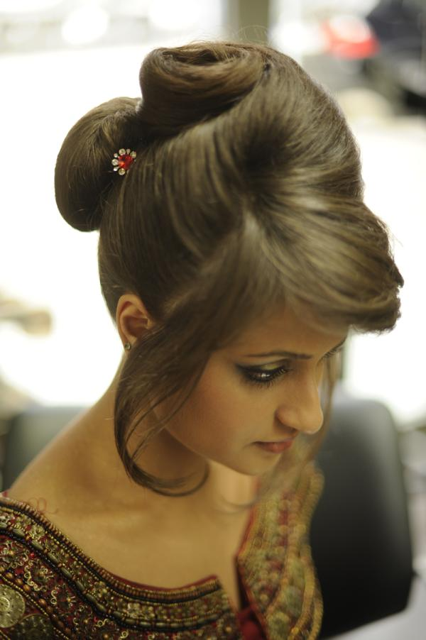 Wedding Indian Bun Hairstyle
