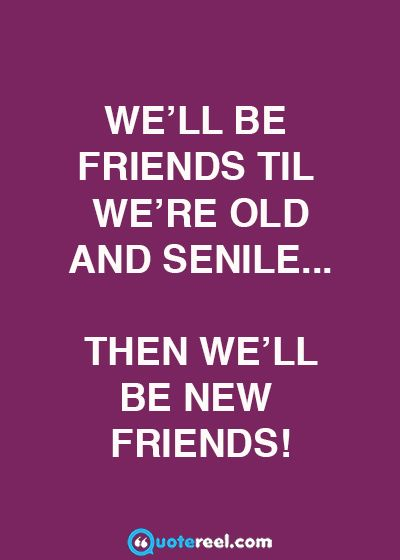 We'll Be Friends Til Funny Best Friend Quotes