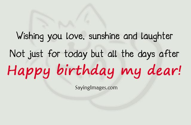 Wishing You Love Sunshine Best Friend Birthday Quotes