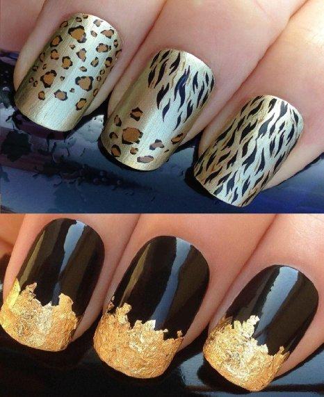 Wonderful tiger Animal print nail art