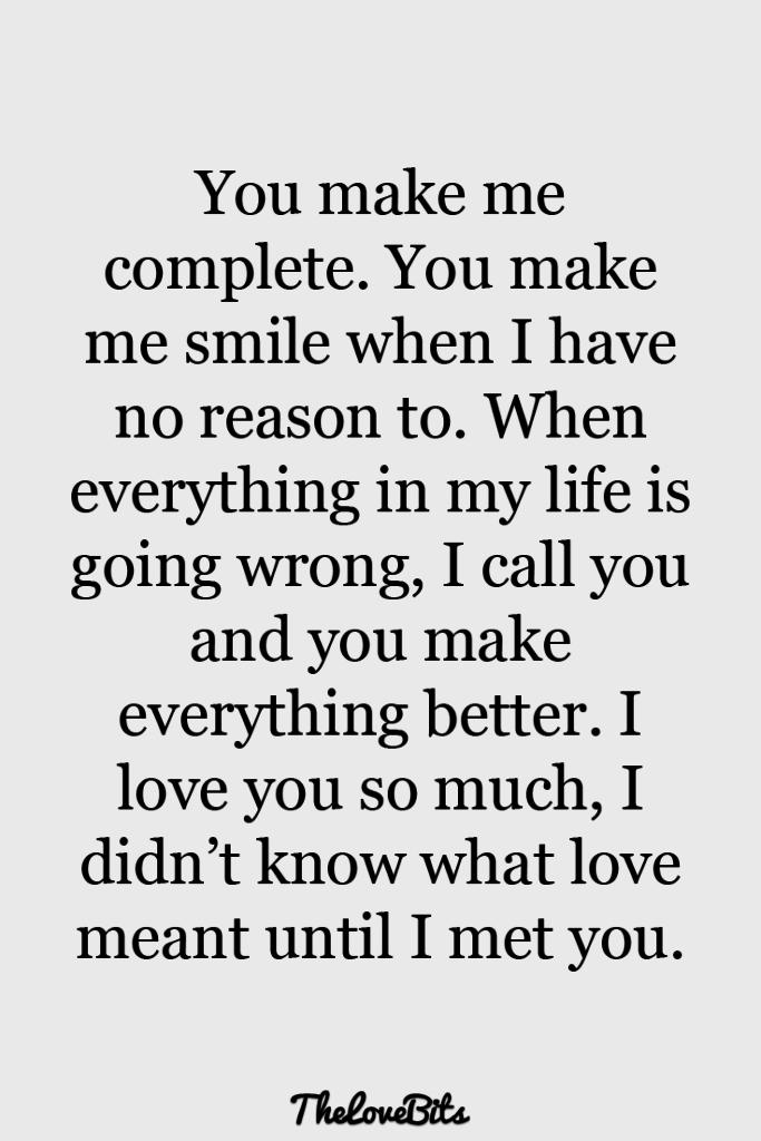 You Make Me Complete Boyfriend Quotes
