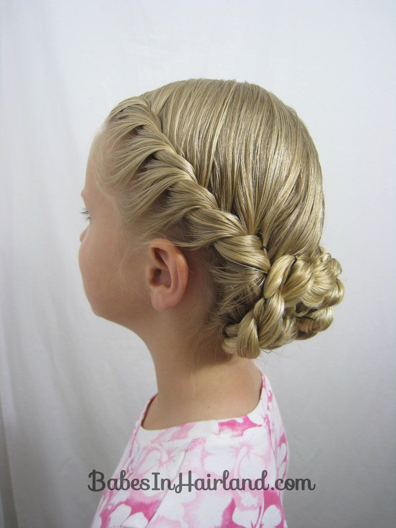 fantastic bun braided style Kids Hairstyle