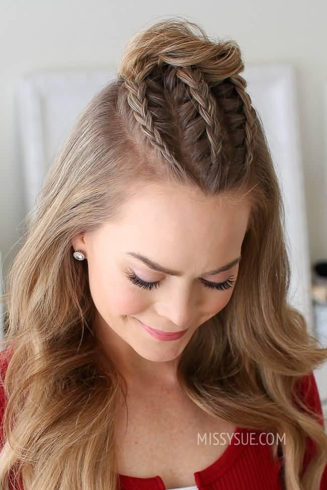 fantastic triple lines Braid Hairstyle