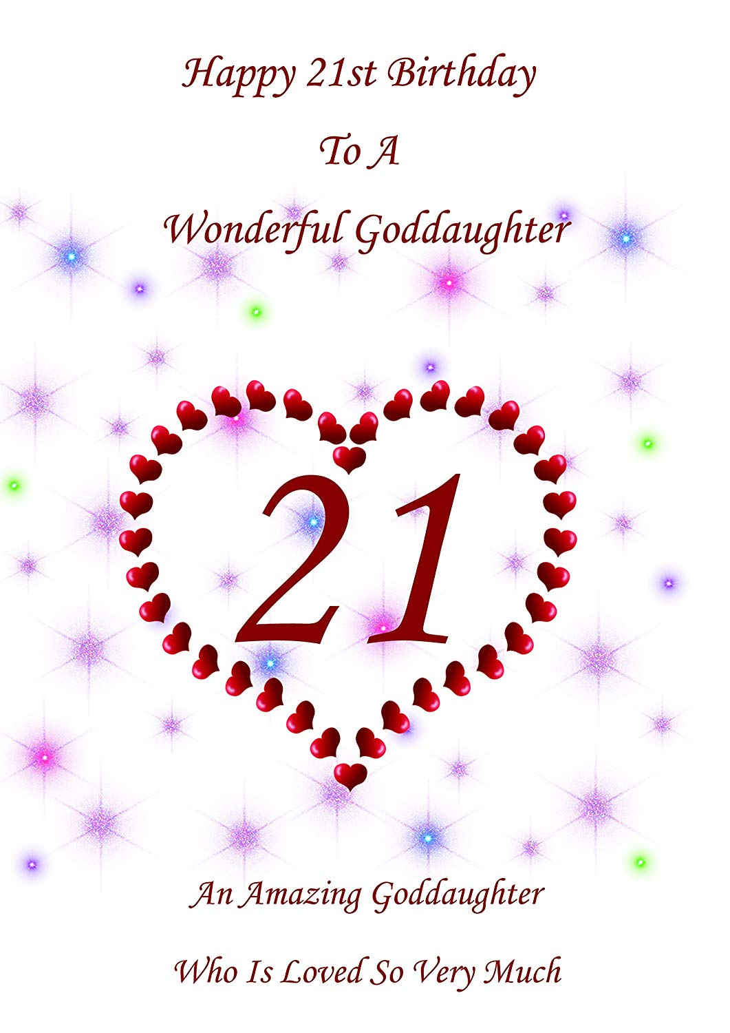21st Happy Birthday Wishes for Goddaughter from Dad