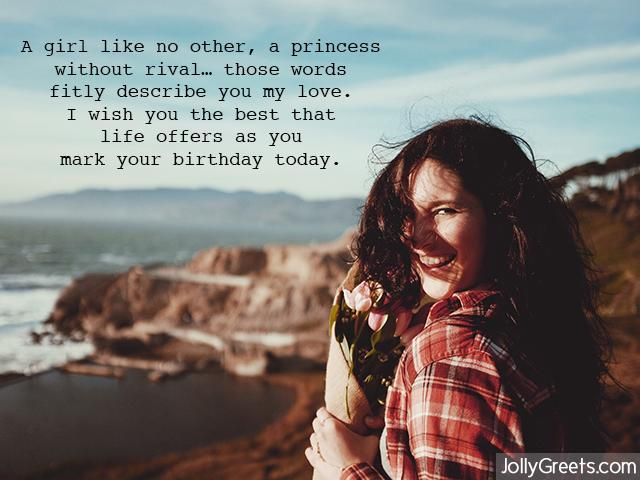 A girl like no other for dear Girlfriend birthday wishes