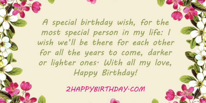 A Special Birthday Wish For The Most Boyfriend Greetings Card