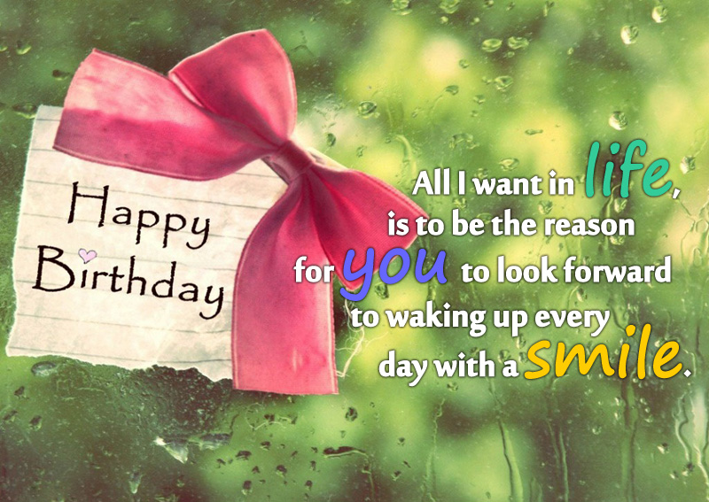 All I want in life for pretty Girlfriend birthday greetings card