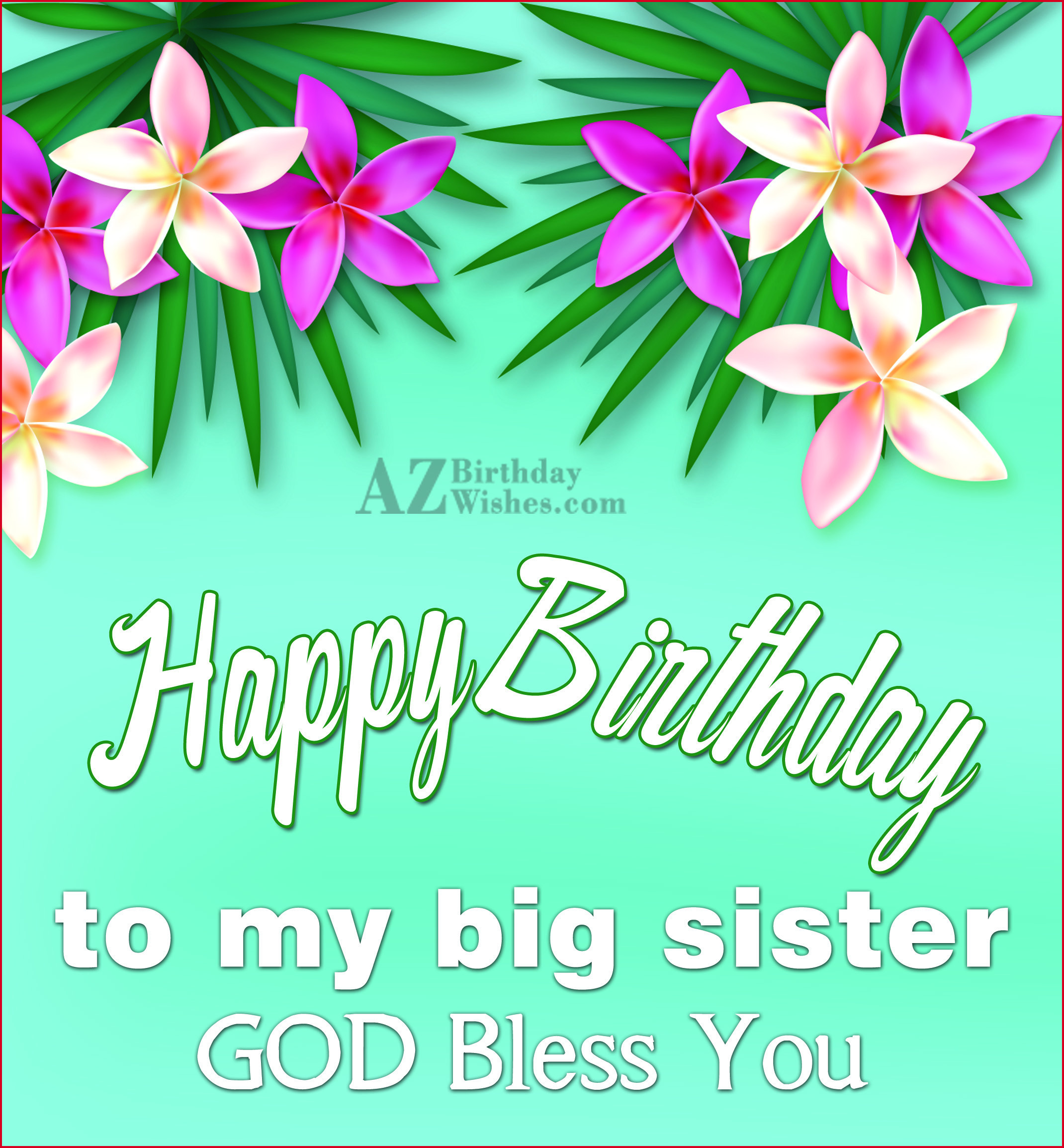 Amazing birthday card wallpaper for dear Sister god bless you