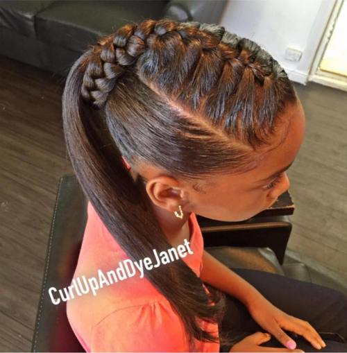 Amazing braid style Ponytail Hairstyle