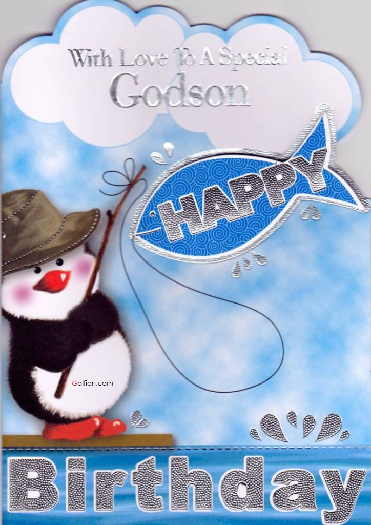 Amazing penguin happy birthday for little Godson from dad