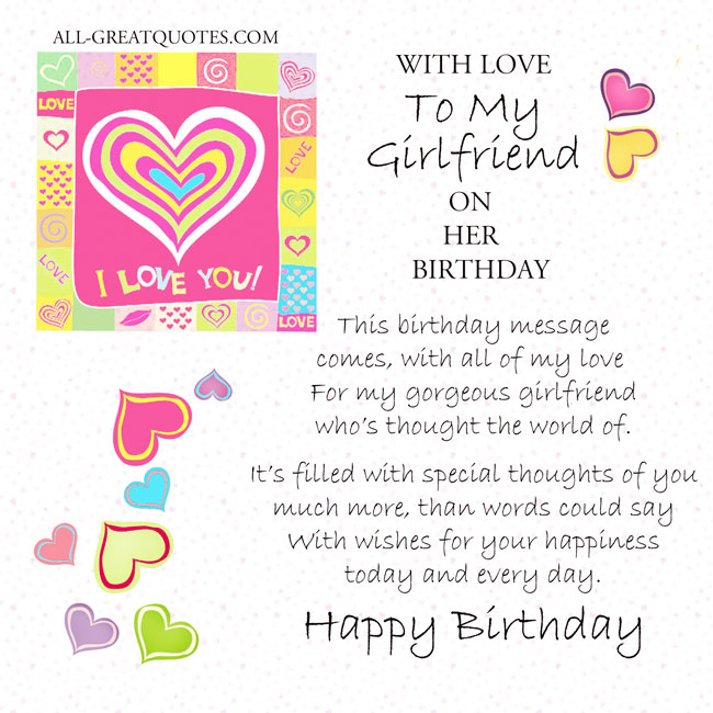 Amazing greetings wish birthday for dear Girlfriend from boyfriend