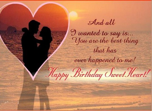 And all I wanted to day is ...wife birthday messages wish from husband