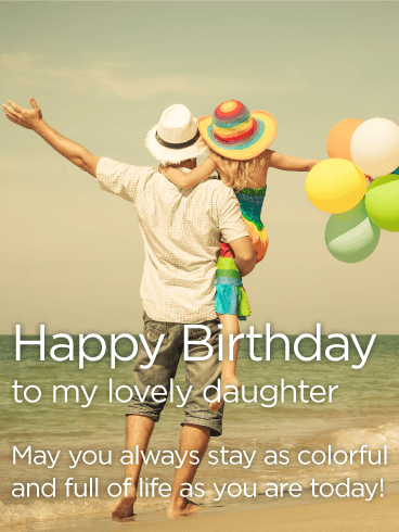 Awesome birthday message to my lovely Daughter from father