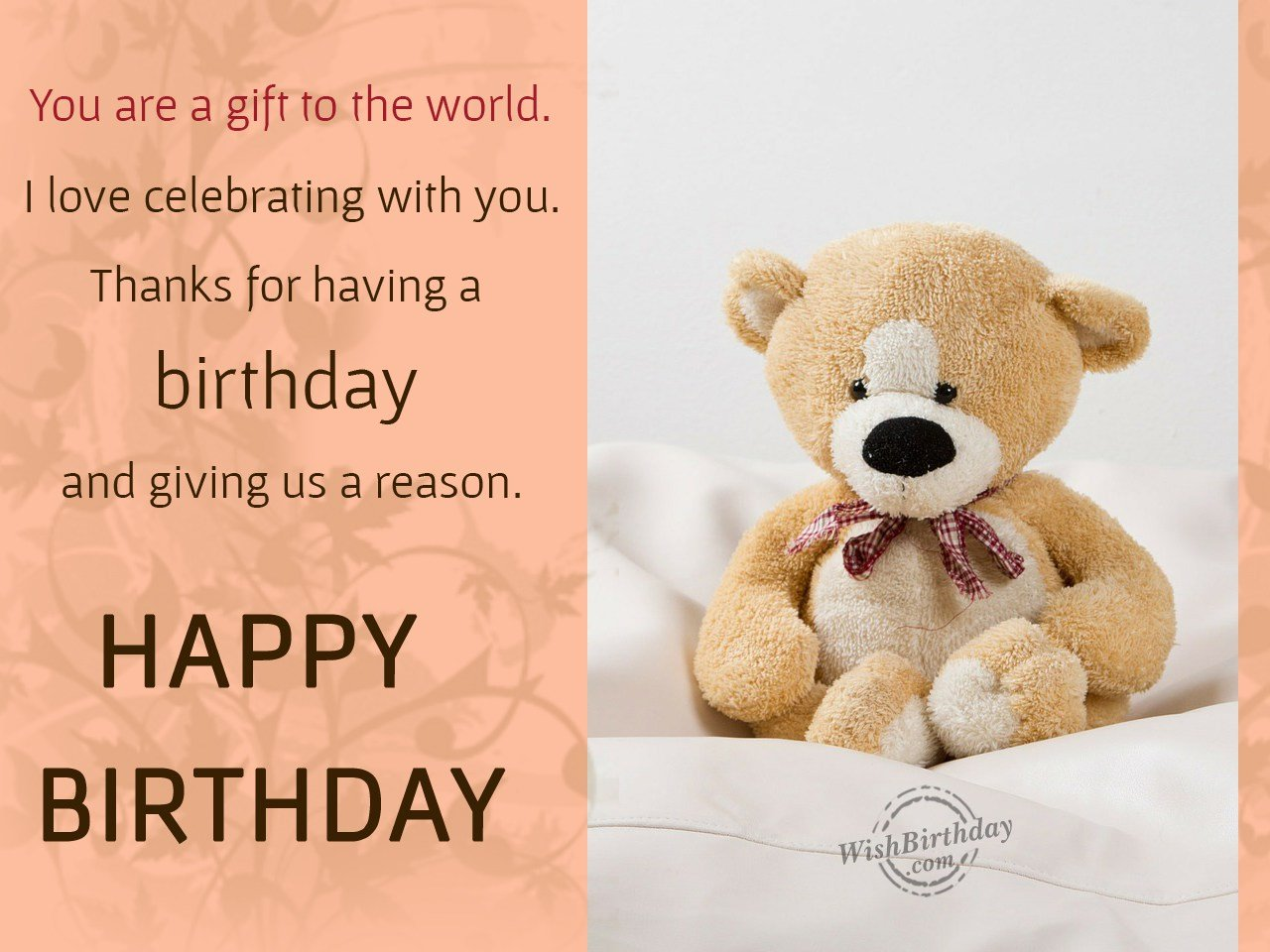 Awesome birthday wishes with teddy bear greeting to dear Brother from sister