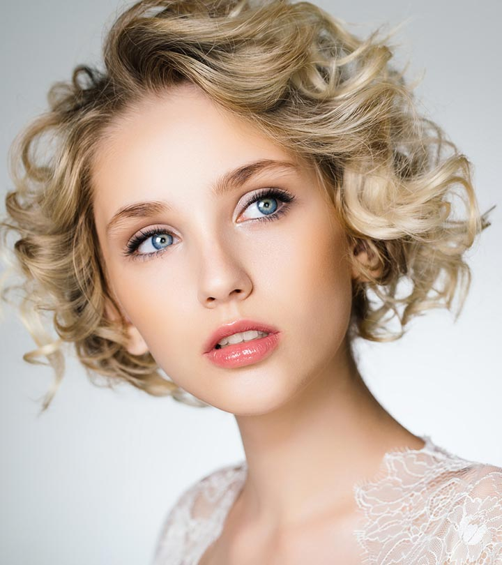 Awesome curly style girlish Short Hairstyle