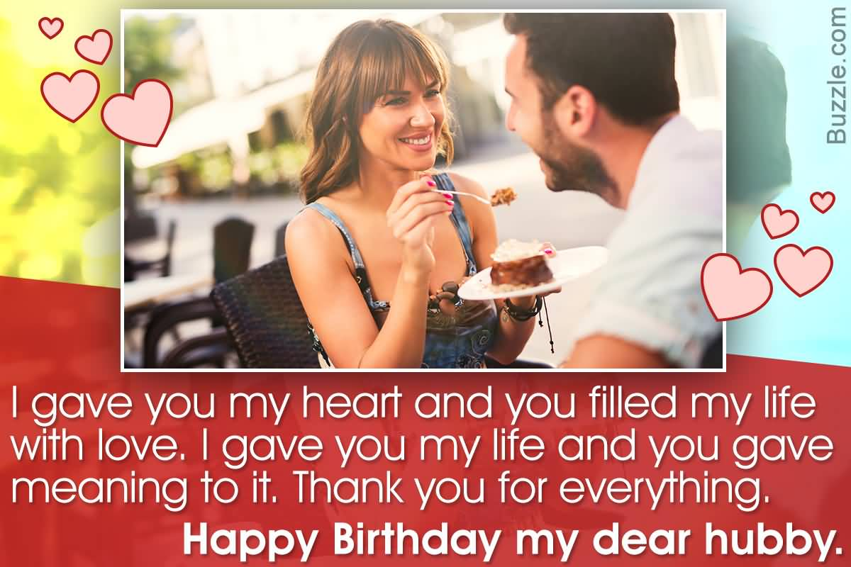 Beautiful birthday wishes with lovely blessings for dear Husband