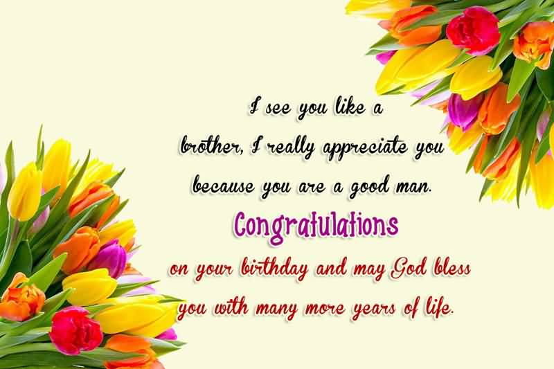 Beautiful flowers birthday congratulations to best Brother