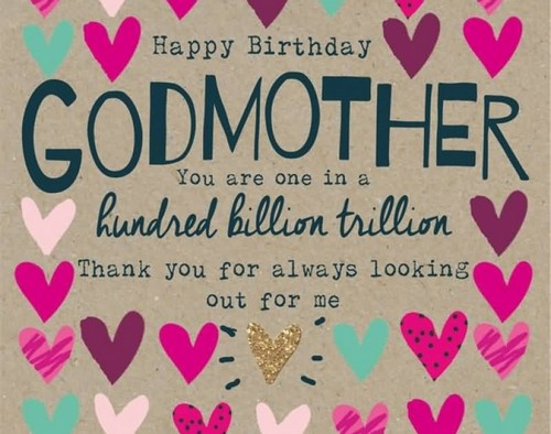 Beautiful greeting for Godmother on her birthday