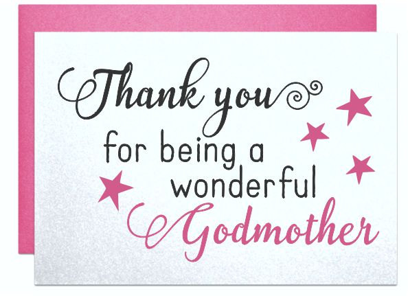 Beautiful greeting wish for wonderful Godmother